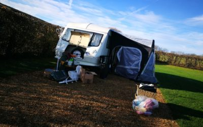 Bye Bye Bessie- Caravan Storage, Credit Cards & A Fractured Foot!
