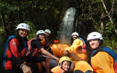 White Water Rafting in The Cetina Canyon With Kids